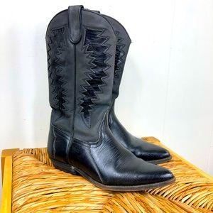 Vintage Sancho Leather Cowboy Boots Sz 37